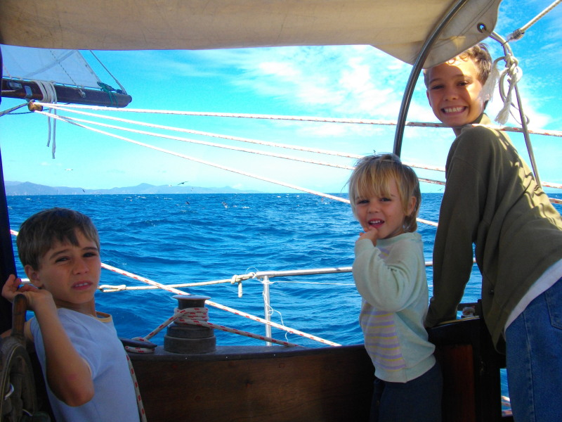 Joline NZ sailing to Great Barrier Island